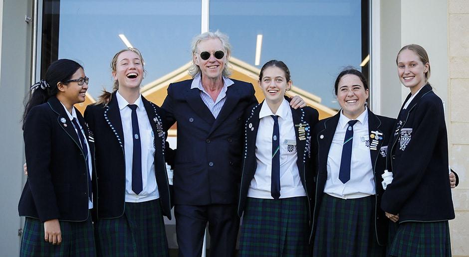 Sir Bob Geldof with PLC Perth 2019 Student Leaders